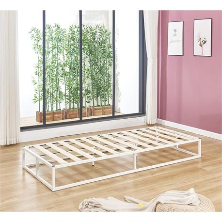 Substrate bed /steel white 90X200X24 cm
