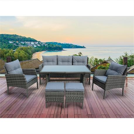 Outdoor Set (6 Pcs) grey