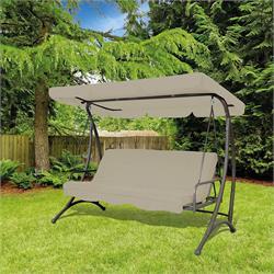 Metal swing bed 220X105 cm