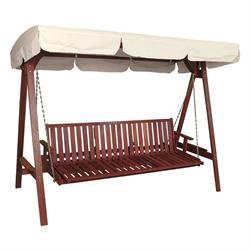 Swing 3 seats Red Shorea Wood 250 cm