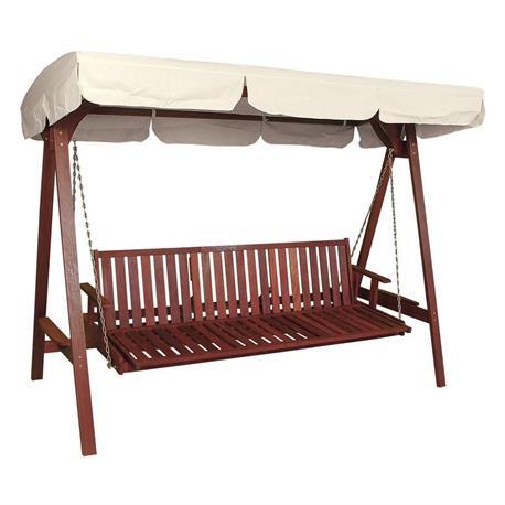 Swing 3 seats Red Shorea Wood 250 cm