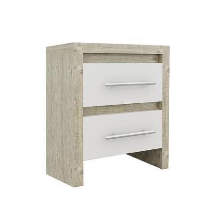 Bedside sonoma - white 47X39
