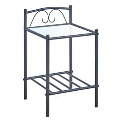 Bedside metal black 40X40