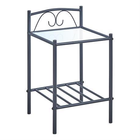 Bedside metal black 40X40