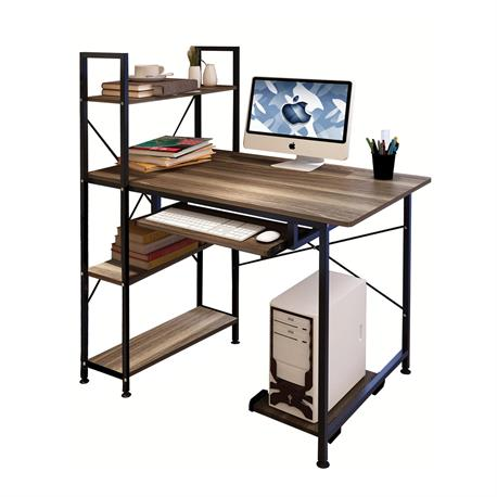 PC desk - bookcase 100Χ48 walnut