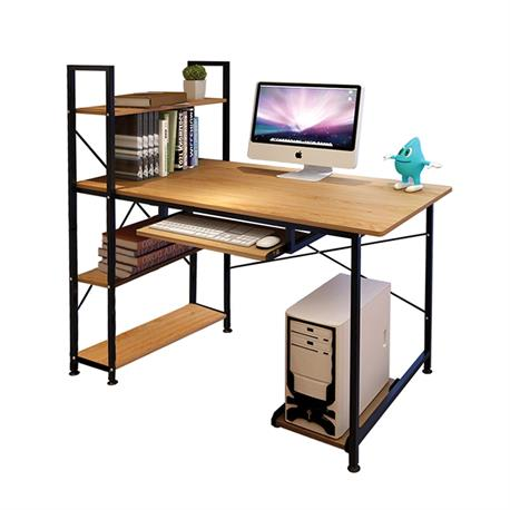 PC desk - bookcase 100Χ48 natural