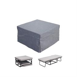 Stool -bed fabric grey