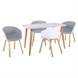 Set (Table + 4 Armchairs)