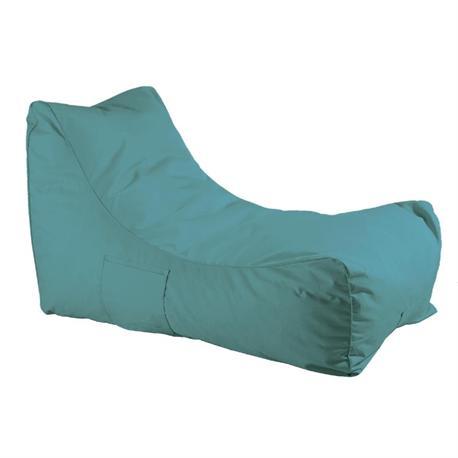 Πολυθρόνα πουφ ύφασμα γαλάζιο