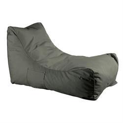 Pouf fabric dark grey