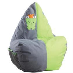 Πολυθρόνα / πουφ παιδικό ύφασμα γκρι λαχανί