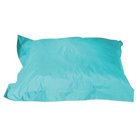 Cushion pouf fabric light blue