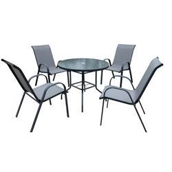 Σετ τραπέζι + 4 πολυθρόνες