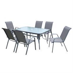Σετ τραπέζι + 6 πολυθρόνες