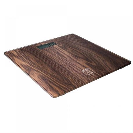 Digital Bathroom Scale Glass in Wood Design