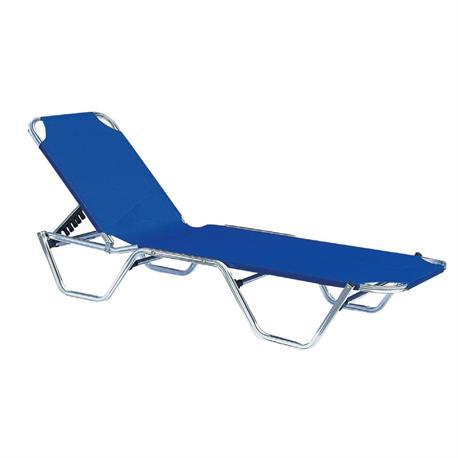 Sunbed - blue textilene