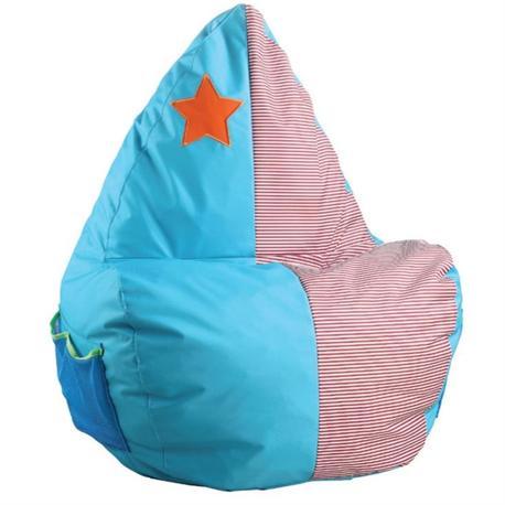 Πολυθρόνα / πουφ παιδικό ύφασμα γαλάζιο ροζ