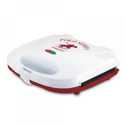 Toaster 700W red - ribbed plates