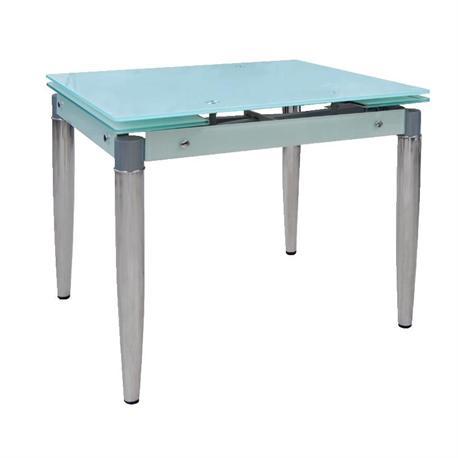 Expanding table chromium-glass white 80+40x65 cm