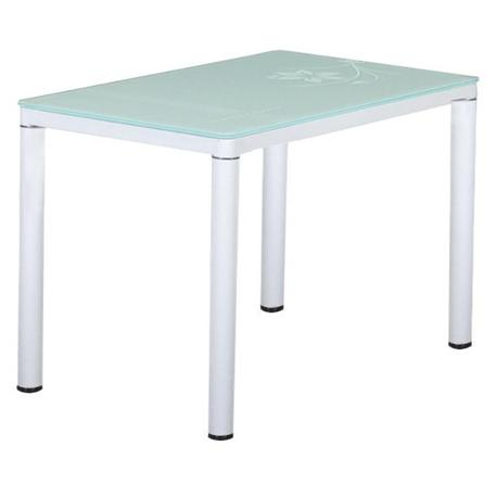 Table paint white-glass white 120x70 cm