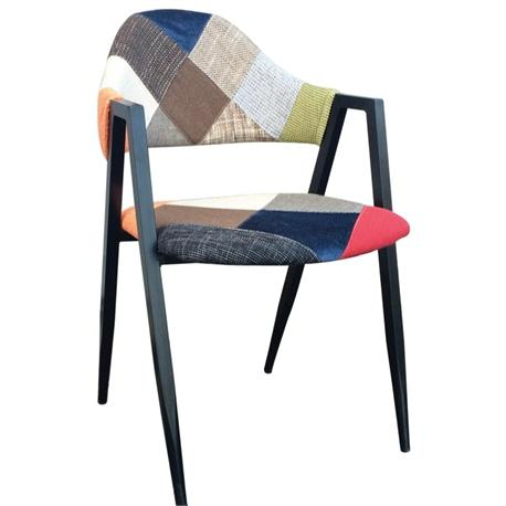 Armchair steel-fabric patchwork