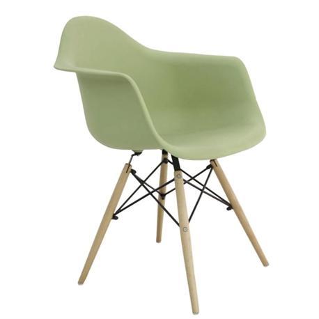 Armchair light green PP