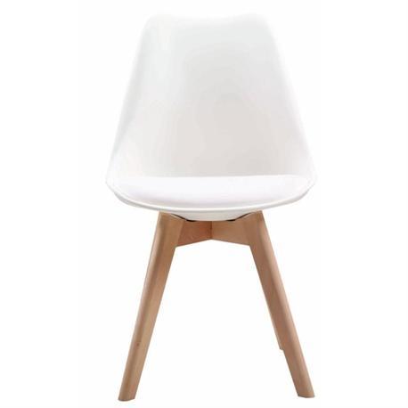 Chair white PP-seat PU