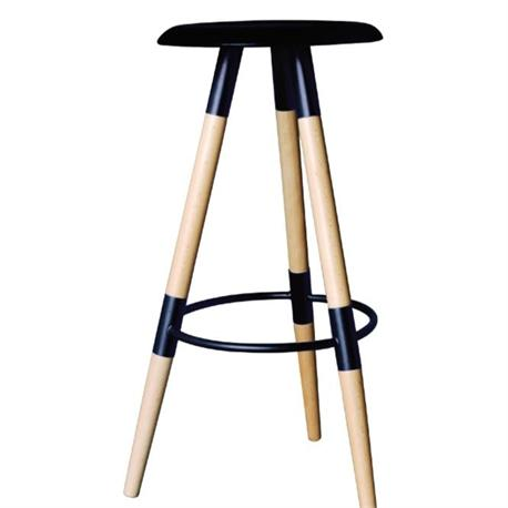 stool bar black PP