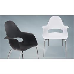 Armchair chromium-white PP
