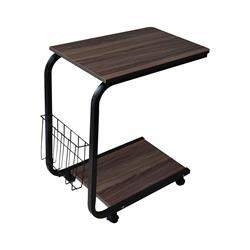 Side Table Black / Dark Walnut
