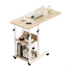 Side Table Steel Steel White / Maple