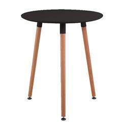 Τραπέζι MDF μαύρο Φ60 εκ