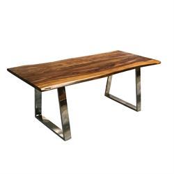 Τραπέζι Ακακία Φυσικό / Inox 200Χ95