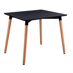 Table MDF black 80x80 cm