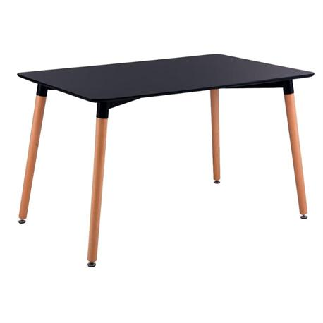 Table MDF black 120x80 cm
