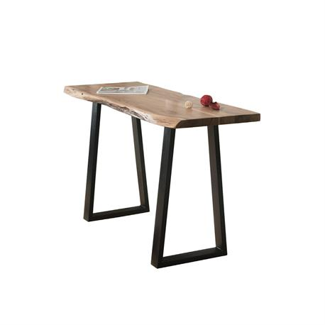 Console Table Acacia Natural Steel Black