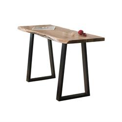 Console Table Acacia Natural Steel Black Slim