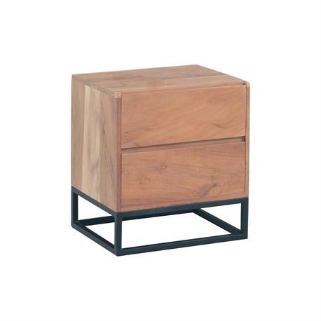 Bedside table acacia natural 50Χ40