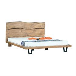 Bed acacia natural 184Χ216
