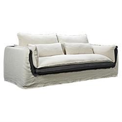 Sofa 3-S Ivory / Grey