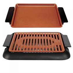 Set Smokeless grill with extra baking plate 1000W