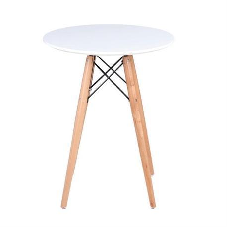 Τραπέζι MDF λευκό Φ60 εκ