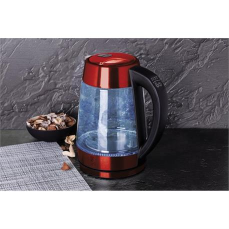 Kettle with Temperature Burgundy