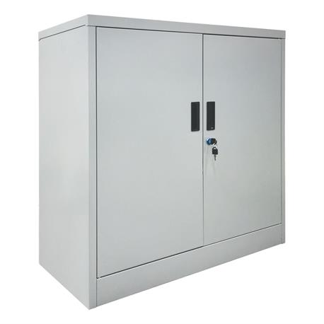 Cabinet with 2 shelves Grey