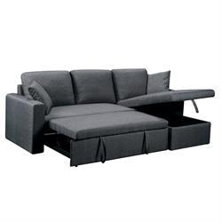 Καναπές-κρεβάτι γωνία αναστρέψιμος / ύφασμα γκρί
