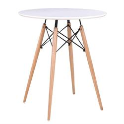 Τραπέζι MDF λευκό Φ80 εκ