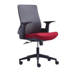 Καρέκλα γραφείου Γκρι Μπορντώ