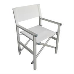 Πολυθρόνα Σκηνοθέτη Αλουμινίου Άσπρη (2,75kg)
