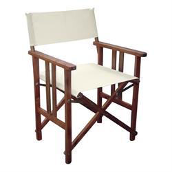 Directors folding armchair Acacia Ecru