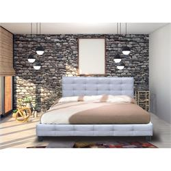 King size bed - Grey Fabric